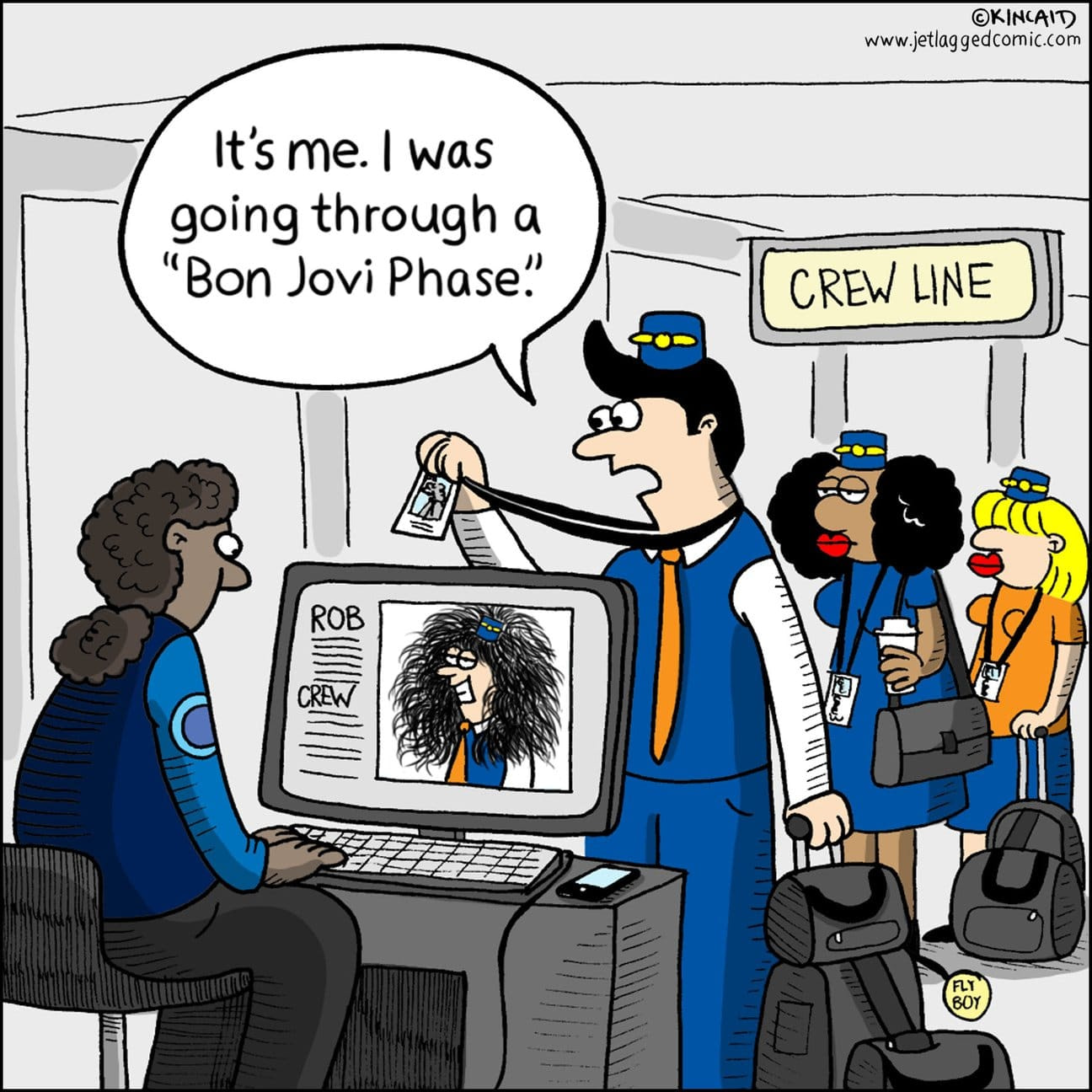 Comic flight attendant
