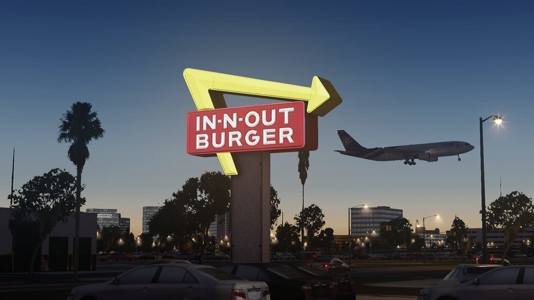 LAX In n out Burger in Flight Simulator