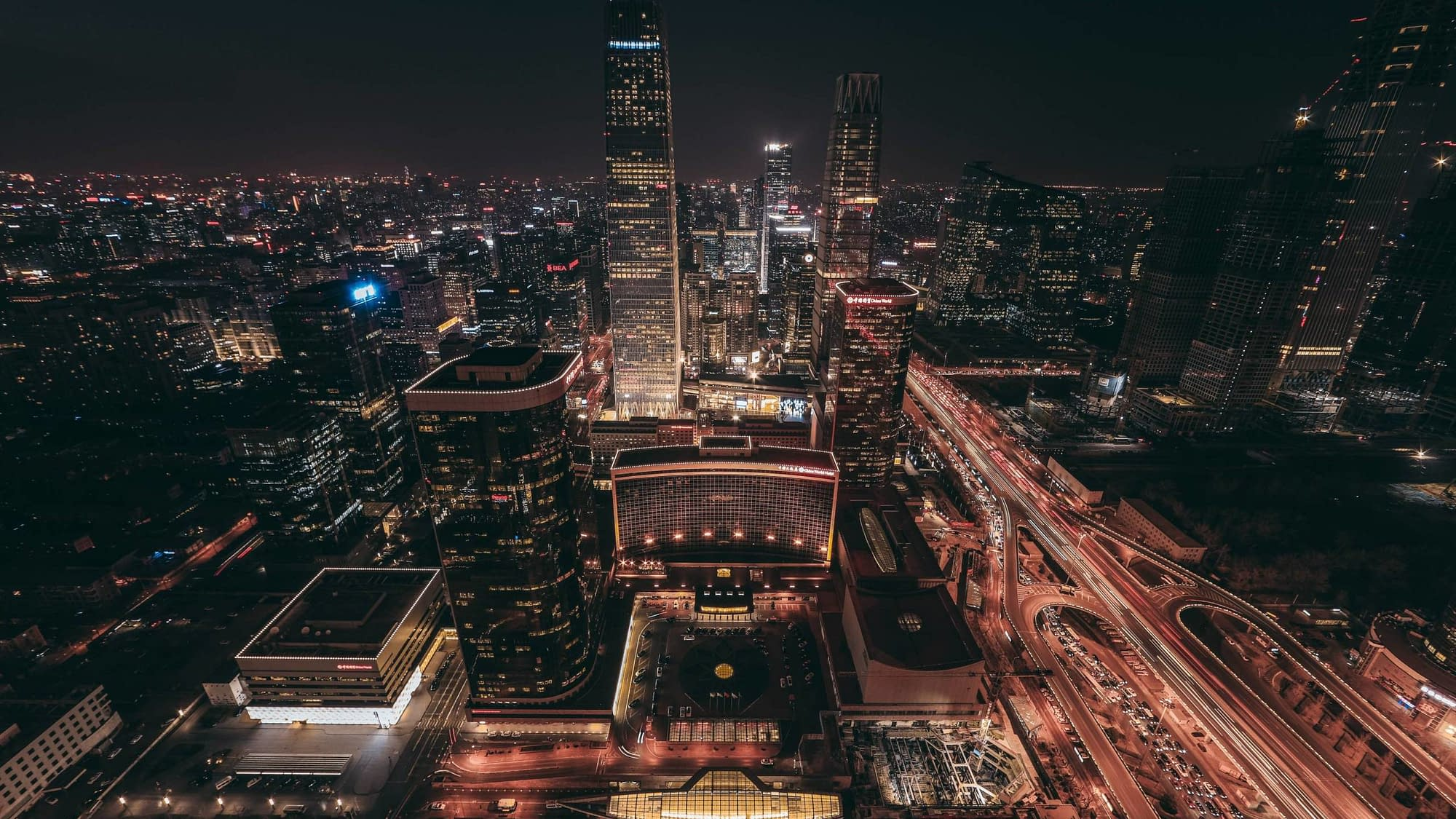 Chinese city by night