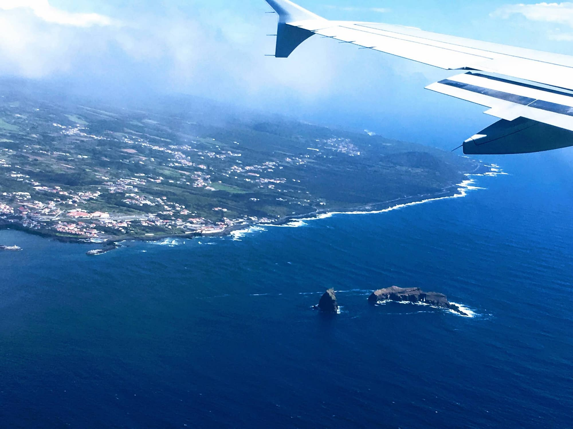 The view of the Azores from the plane