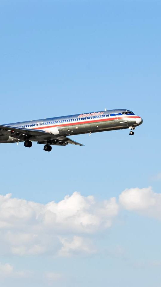 One of the safest aircraft to date is this MD80. Here one is pictured landing at DFW.