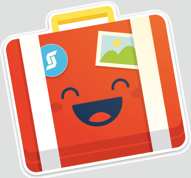 Happy Suitcase cutout sticker