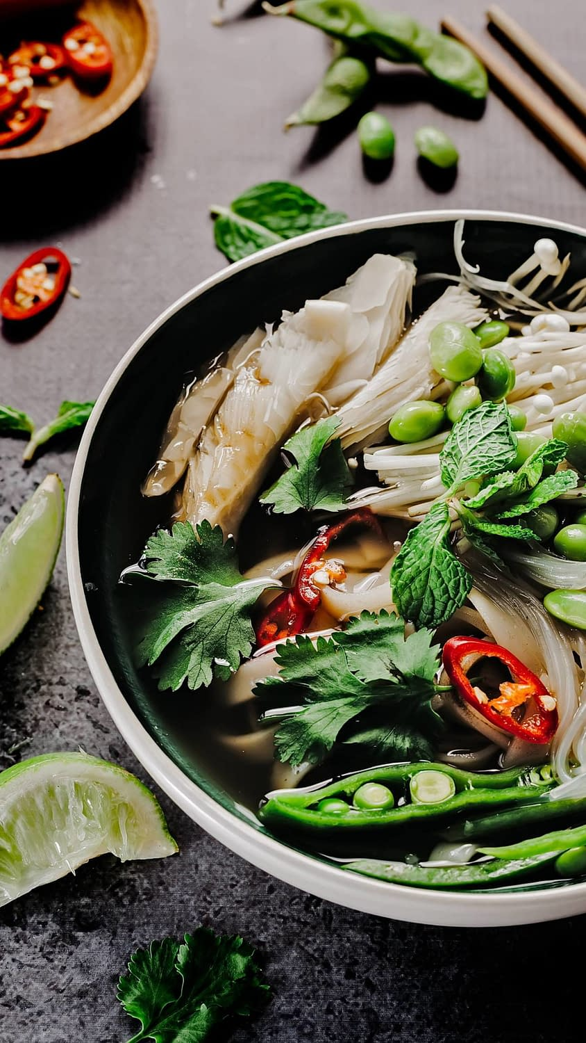 A delicious shot of Pho in Hanoi