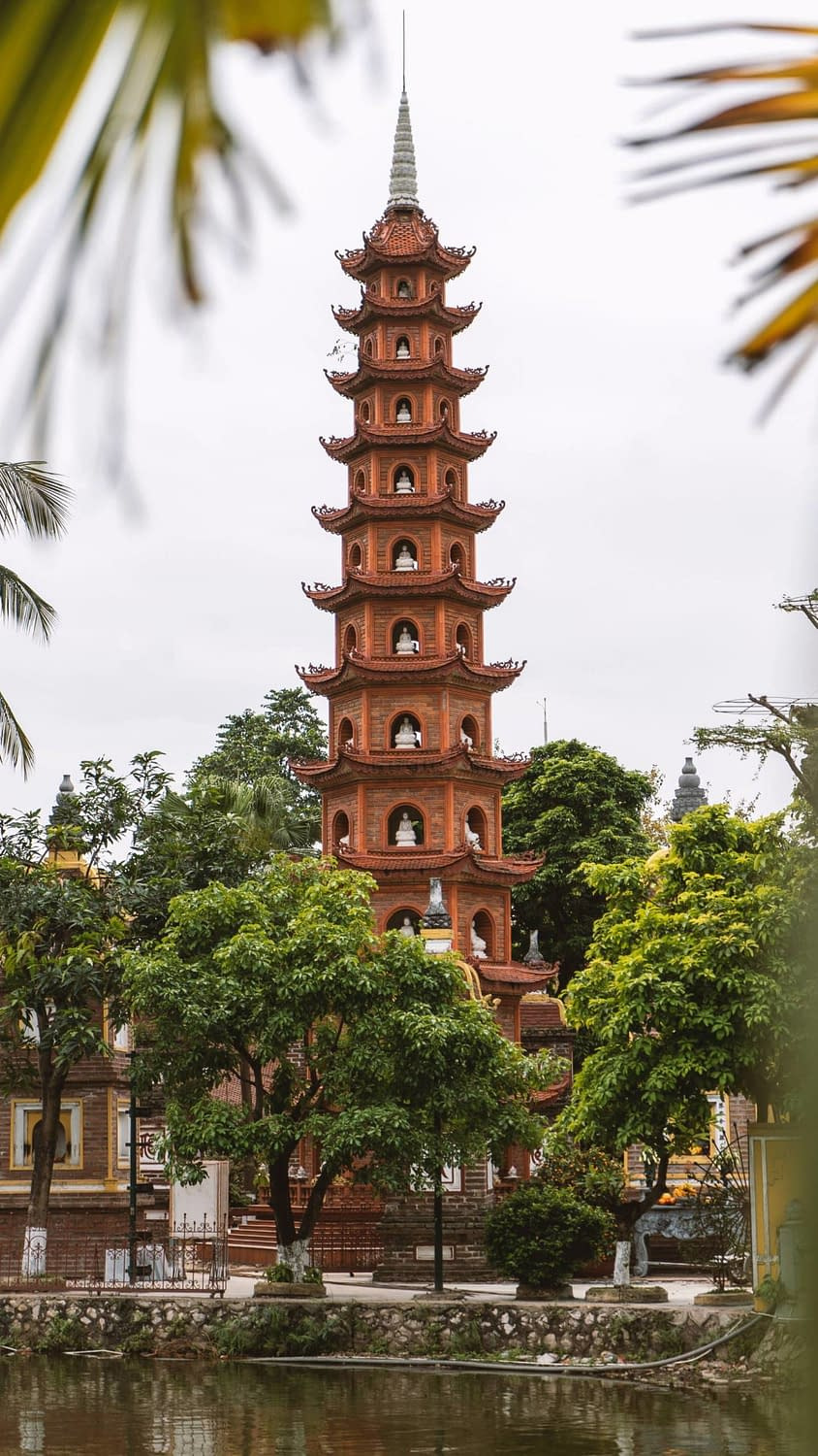 A beautiful Vietnamese temple in the capital of Hanoi