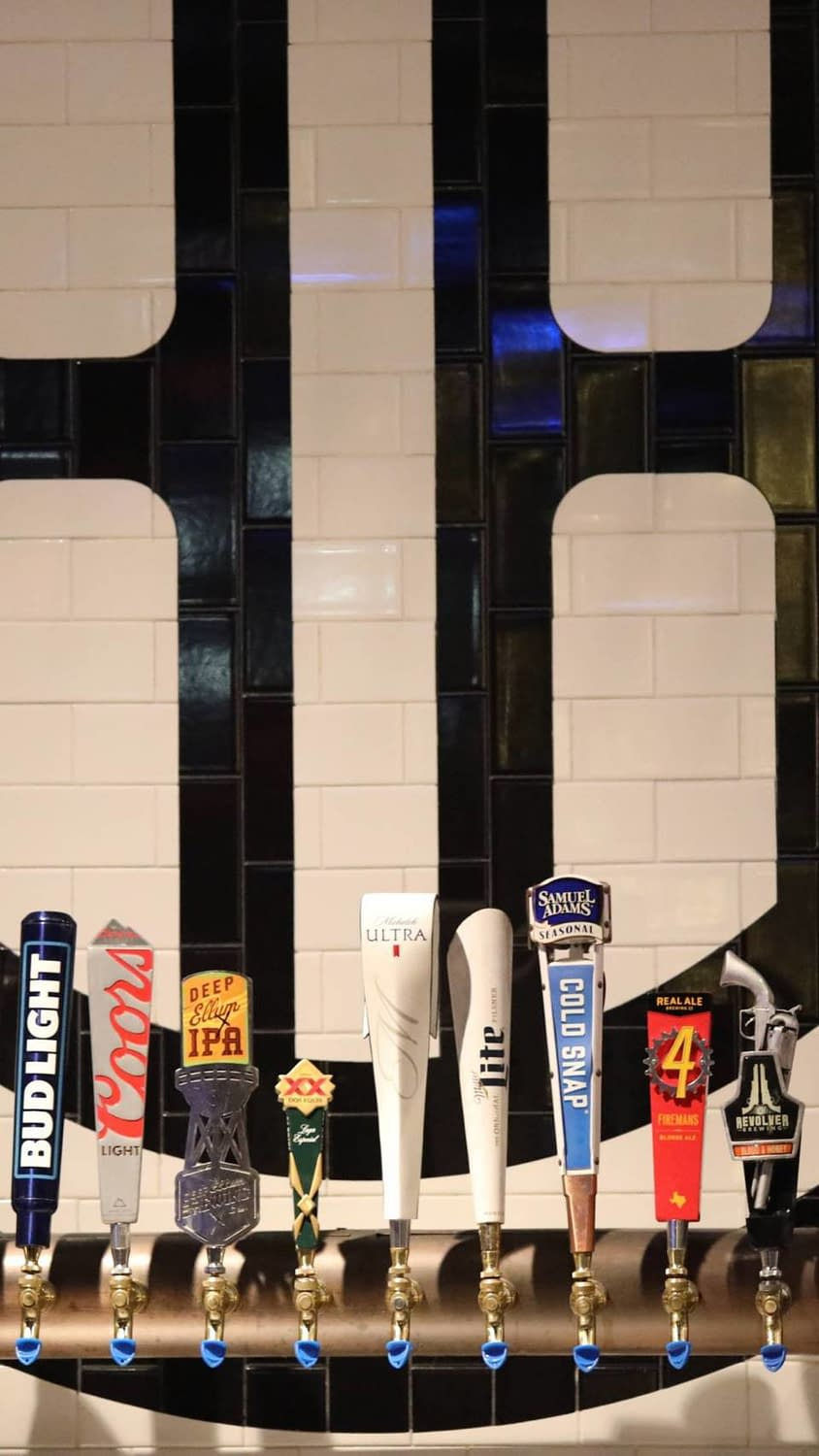 A shot of the tap at the Happiest Hour in Dallas Texas' uptown.