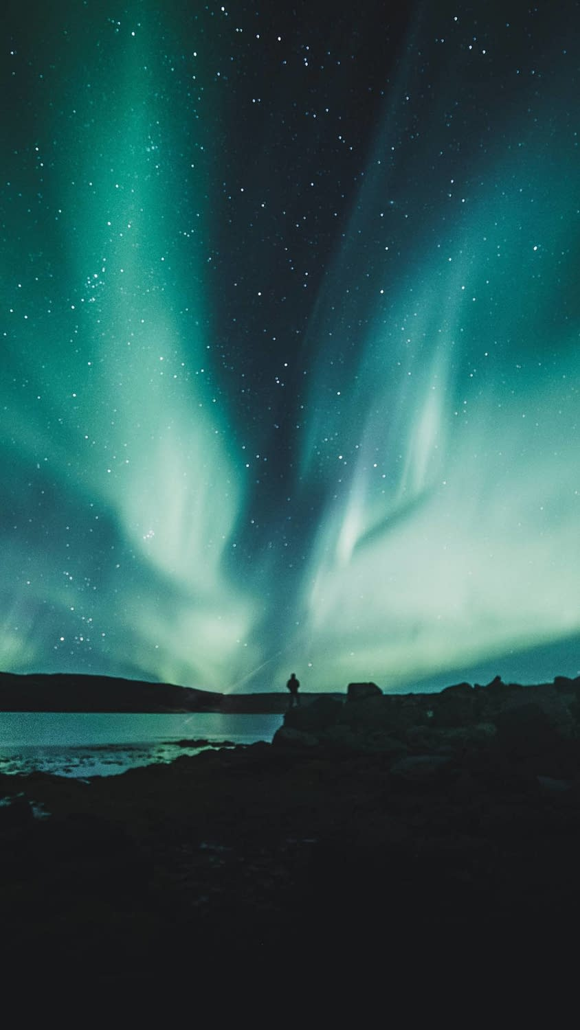 An awesome shot of the Northern Lights as they're seen in Iceland!
