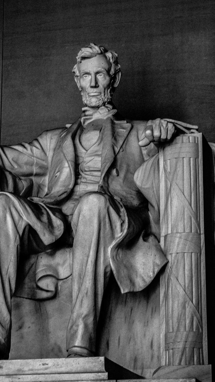 A wonderful shot of the Abraham Lincoln Memorial in Washington DC