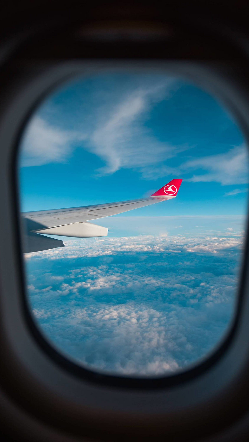 An awesome window shot of the winglet on a TK A340. This aircraft is the safest in the world with never having any safety incidents.