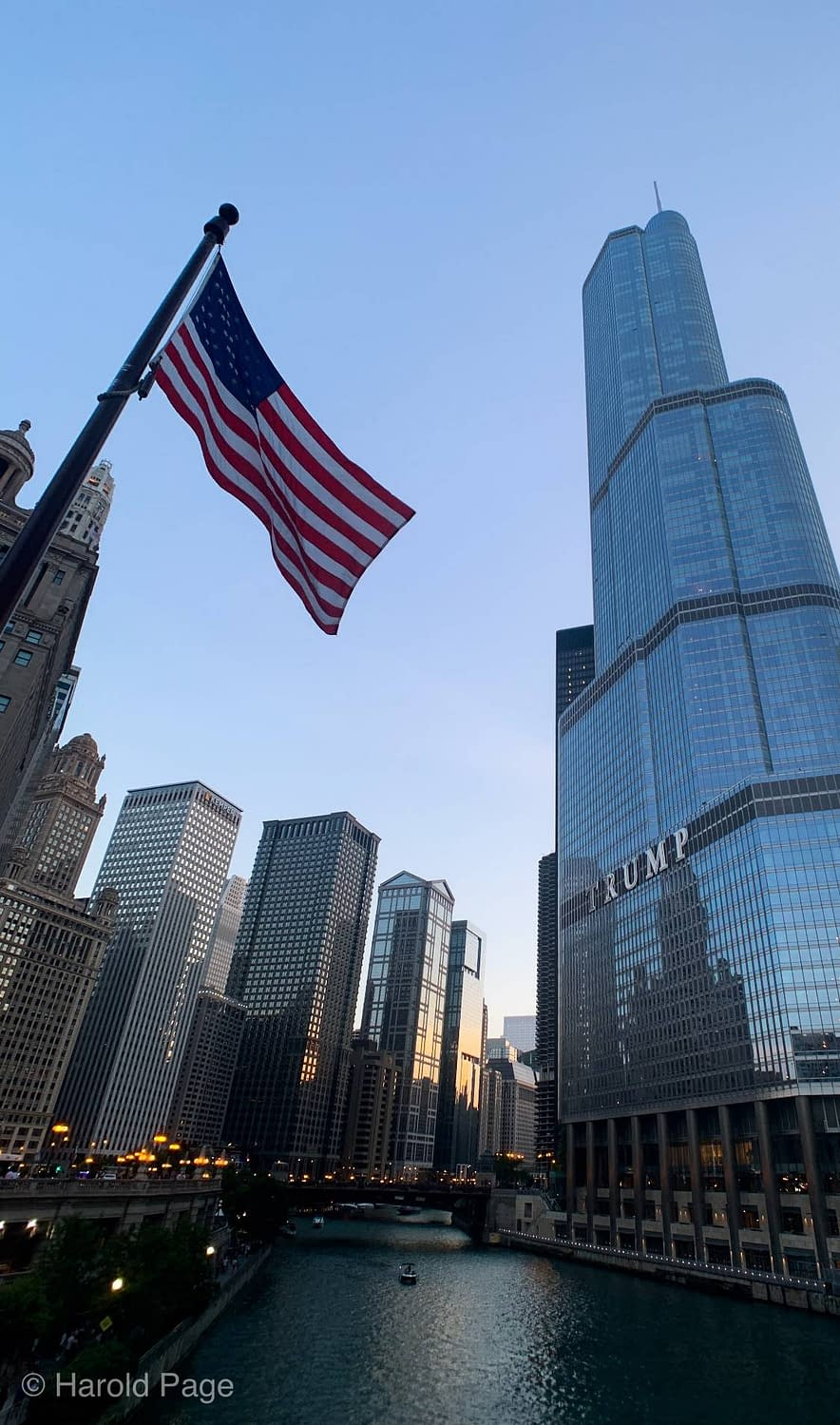 A photo of the Trump tower from the Chicago Riverwalk taken by our own Harold Page!